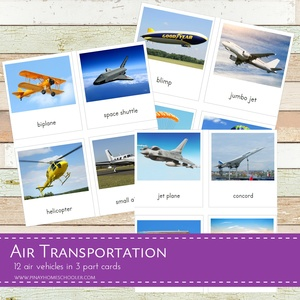 Air Transportation 3 Part Cards