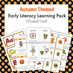September Preschool Unit Autumn Themed Early Literacy Activities