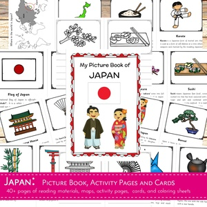 JAPAN: Picture Book, Activity Pages and Cards