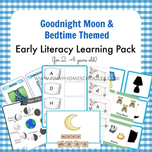 Bedtime Themed (Goodnight Moon) Early Literacy Pack