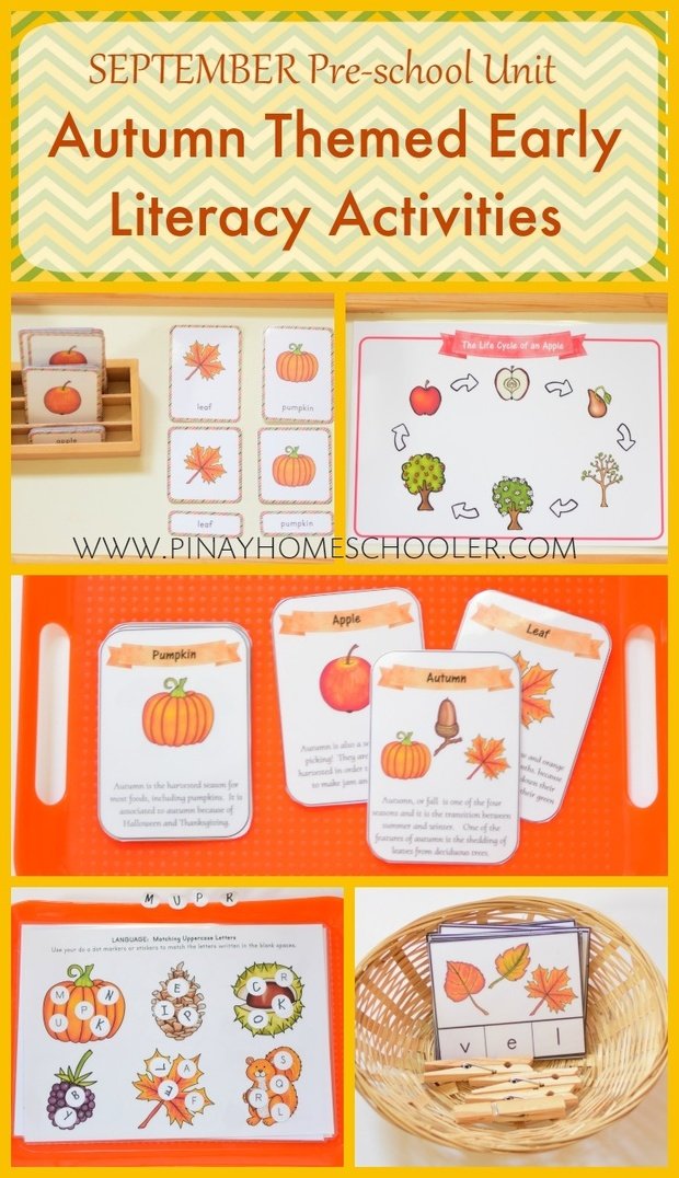 September Preschool Unit Autumn Themed Early Literacy Activities