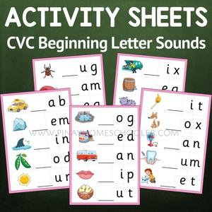 Montessori Language Beginning Letter Sound Activity Sheets