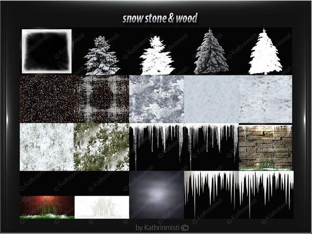 snow stone & wood