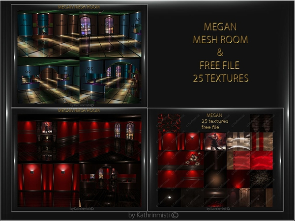MEGAN FILE MESH ROOM AND TEXTURES