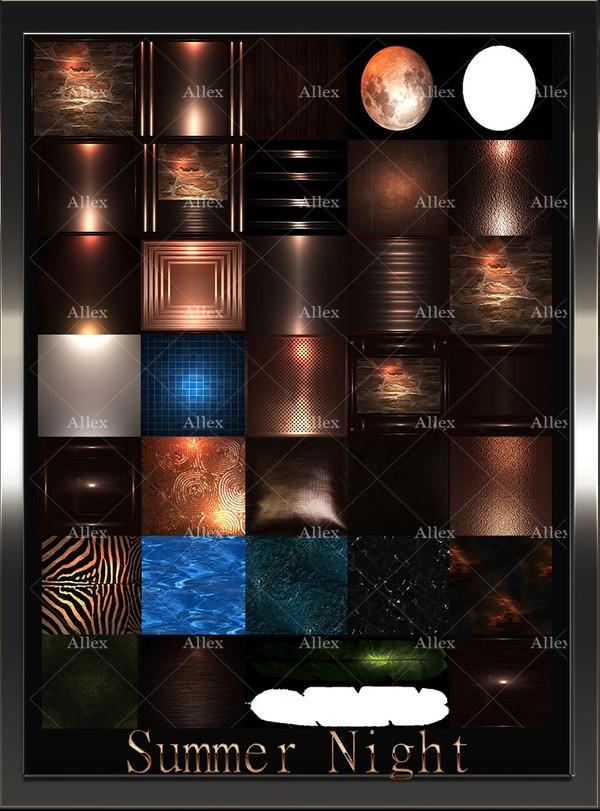 Summer Night Room & Textures