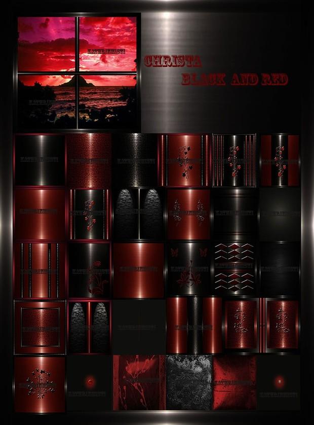 CRISTA BLACK & RED