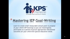 Mastering IEP Goal-Writing
