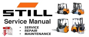 Still EXD20 EXD-SF20 (0283,0284) Double Stacker Forklift Service Repair Workshop Manual