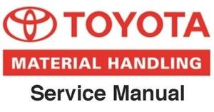 Toyota sdk10 Skid Steer Loader Workshop Service Repair manual