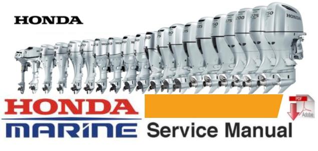 honda b75 marine outboard service repair workshop manu rh sellfy com Honda 75 Horsepower Honda VTX 1800