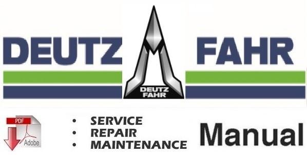 Deutz Fahr Agrotron K90 K100 K110 K120 Tractor Service Repair Workshop Manual