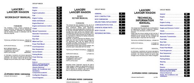 owners manual for mitsubishi lancer 2004