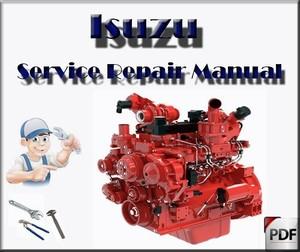 JCB Isuzu 4HK1 - 6HK1 Engines Service Repair Workshop Manual