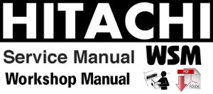 Hitachi Zaxis 130w Wheeled Excavator Workshop Manual