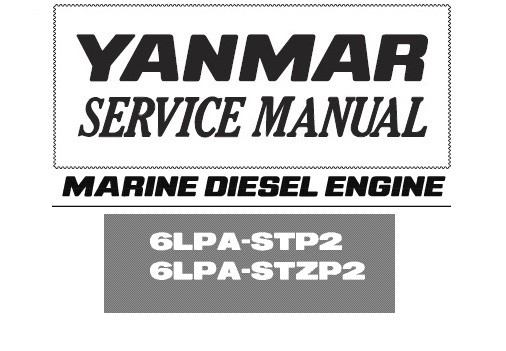 Yanmar 6lp 6lpa marine boat engine service & op manuals for sale.