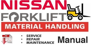 Nissan Forklift Electric P01 P02 Series Workshop Service Repair Manual