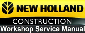 New Holland E70BSR Mini Excavator Service Repair Workshop Manual