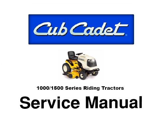 cub cadet 1000 1500 series riding tractors service r rh sellfy com Cub Cadet 2500 Series Manual cub cadet 1500 owners manual