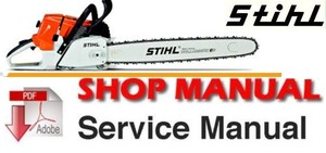 Stihl 017 , 018 Chain Saws Workshop Service Repair Manual