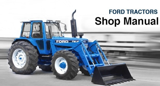 ford 550 555 tractor backhoe loader service repair w