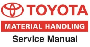 Toyota Electric Pallet Truck Type 6HBW23 Workshop Service Manual (S/N: 22000 and up )