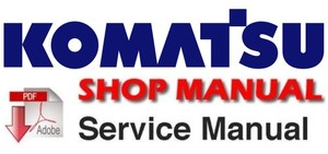 KOMATSU PC75UU-3 HYDRAULIC EXCAVATOR SERVICE SHOP REPAIR MANUAL (S/N: 15001 and up)