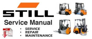 Still RX60-25, RX60-30, RX60-35, RX60-40, RX60-45, RX60-50 Electric Forklift Truck Service Manual