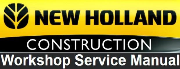 New Holland E200SR Excavator Workshop Manual