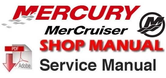 1985-1989 Mercury Mercruiser #10 MARINE ENGINES GM 4-Cylinder Workshop Service Repair Manual