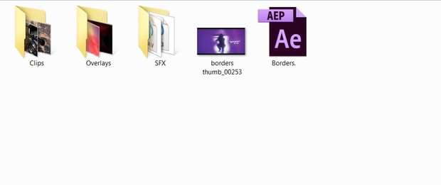 Borders - Project File (With Clips - Overlays And SFX!)