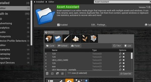 Asset Assistant for Unreal Engine 4.18.0