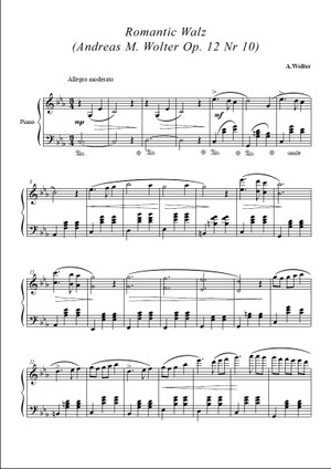 Romantic Walz  (Andreas M. Wolter Op. 12 Nr 10)