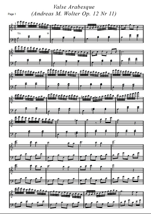 Valse Arabesque  (Andreas M. Wolter Op. 12 Nr 11)