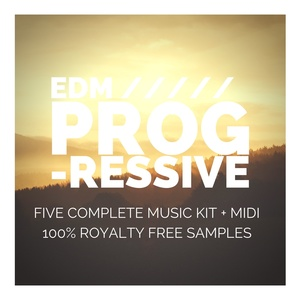 EDM PROGRESSIVE (24bit WAV LOOPS - 5 Complete Music Kit + Midi + Vocals)