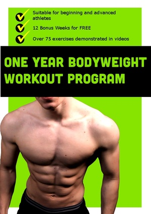 One Year Bodyweight Workout Program: 3 BONUS MONTHS FOR FREE!