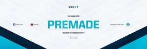 Crest Premade Header PSD