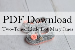 Two-Toned Little Dot Mary Janes PDF Download