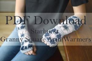 Starburst Granny Square Arm Warmers