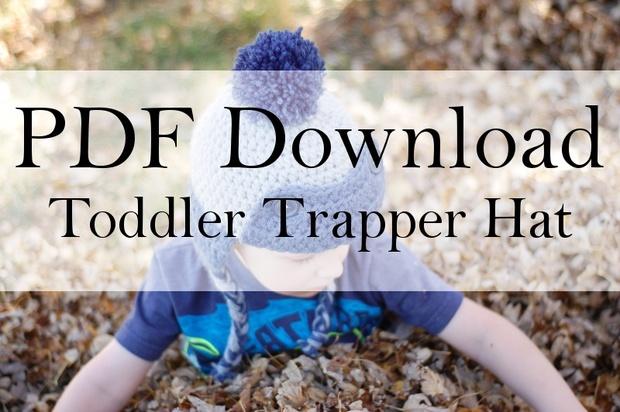 Toddler Trapper Hat PDF Download