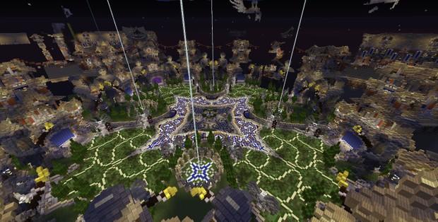 Minecraft Hub 12 portals