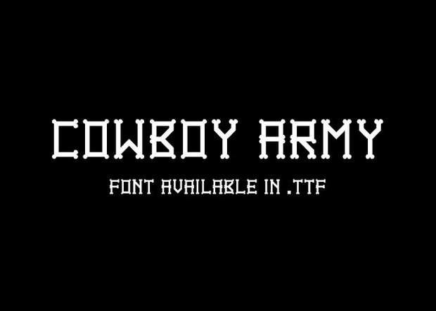 The Giant Cowboy Army - Font.