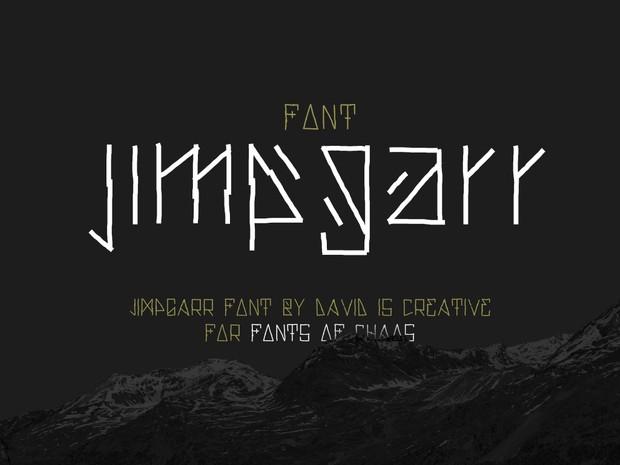 Jimpgarr - font