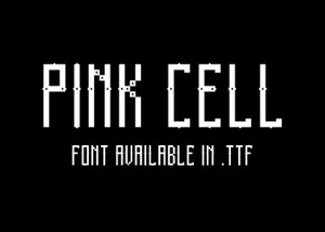 Pink Cell - font.