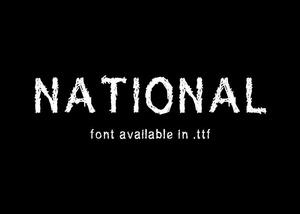 SuperNational 264 - font.
