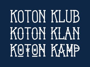 Koton Kollection - Font