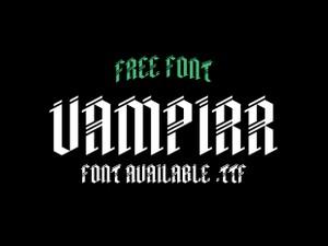 Vampirr - Free font.