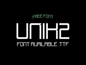 Unik2 - Free font.