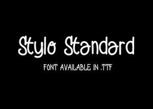 Stylo Standard - Font