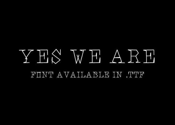 We are Tom Jones - font.