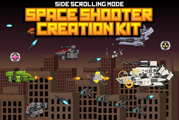 Space Shooter Kit: Side Scrolling
